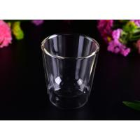 Quality Creative Transparent Pyrex Drinking Borosilicate Glass Cup Two Layers , 250ml Capacity wholesale