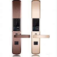 China Intelligent Zinc Alloy Fingerprint Door Lock With Super C Class Cylinder on sale