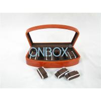 Quality Brown High Gloss Wooden Watch Collection Case With Luxury Adjustable Pillows wholesale