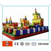 Quality Outdoor colorful exciting Inflatable Fun City , bouncy castles for Rental / family use wholesale