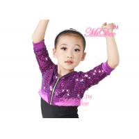China Three Quarter Sleeve Polyester Sequin Hip Hop Hoodies Jacket For Girls on sale