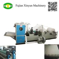 China Automatic box drawing V fold facial tissue paper making machine on sale