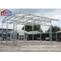 Cheap 6082-T6 Silver High Hardness Aluminum Light Truss For Concert / Fashion Show for sale