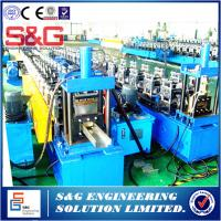 China Durable Galvanized Steel Door Frame Roll Forming Machine 1.5 - 2mm Thickness on sale