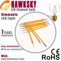 China led bulb factory E27  dimmable led filament bulb supplier on sale