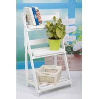 Quality 3 Tiers Wooden Outdoor Furniture Flower Pot Stand Foldable 2.9KG For Roomy Storage wholesale