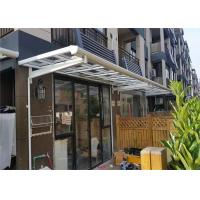 Quality Aluminium Frame Polycarbonate Door Canopy / Outdoor Patio Cover Size Customized wholesale