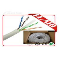 Quality CCTV System White Ethernet Cable , 24 AWG Bare Copper Cat6 Ethernet Cable 1000 Ft wholesale