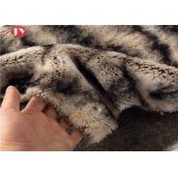 Quality Gray Two Tone Faux Fur Fabric Sewing Costume Shag Fluffy Fur Imitation 900gsm wholesale
