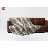 Quality Exotic Faux Chinchilla Throw Blanket , Chinchilla Faux Fur Throw Blanket wholesale