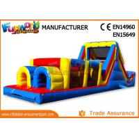 Quality Sports Challenge Outdoor Inflatable Obstacle Course For Adults CE UL SGS wholesale