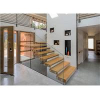 Quality Modern diy floating with armrest floating staircase glass railing stair design wholesale