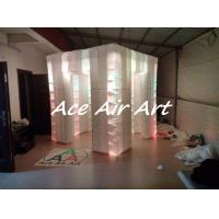Quality wholesale portable inflatable lighting photo booth with logo cube booth enclosure tent for sale wholesale