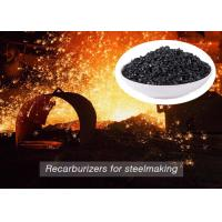 Quality Low Sulfur Graphite Recarburizer / Calcined Anthracite Coal For Steel Making wholesale