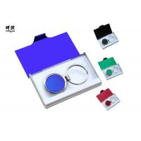 Quality Branded Metal Name Card Holder And Keychain Business Gift Sets Any Color Available wholesale