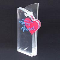 Quality Custom Engraved Corporate Gift Acrylic Award Trophy With Silk Printing Logo wholesale