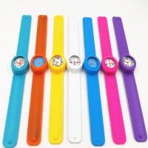 Quality Fashion Personised Silicone Slap Watch Bracelet With Japan Quartz Movement wholesale