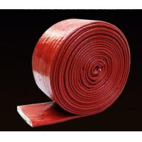 China High Tenperature Silicone Rubber Cable Sleeve , Braided Fiberglass Sleeve 4-150mm Size on sale