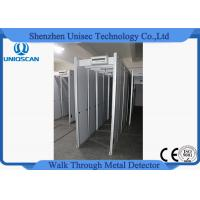 Quality Adjustable Sensitivity Walk Through Metal Detector Security Gate PVC Synthetic Material wholesale