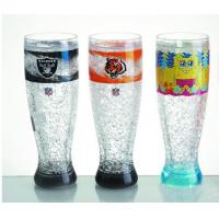 Quality HT-18 plastic tall beer cup colors gel water PS material Cold drinks beer cup custom LOG wholesale