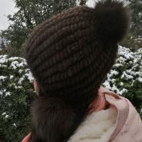 China Hot selling Natural Mink Fur Knitted hat Fashion Ladies Ladies Winter Hat on sale