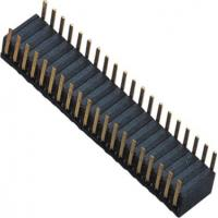 Quality Phosphor Bronze 1.27mm 2x20 Female Header Dual Side Insert 90°DIP H=3.45 ROHS wholesale