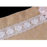 Quality Bulk DTM Double Waves Edge Chemical Guipure Lace Trim With Scalloped Lace Borders wholesale