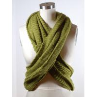 Quality Green Wide Circle Winter Knitted Scarf Chunky Crochet Patterns Available wholesale