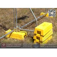 Quality Yellow Color Injection Moulded Plastic Feet for Temporary Fence | China Supplier wholesale