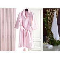 Quality Jacquard Comfortable Hotel Luxury Bath Robes , Women's / Mens Luxury Towelling Bathrobe wholesale