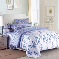 Quality Purple Colorem Broidered Flower Home Bedding Sets Tencel Duvet Cover / Sheet Set wholesale