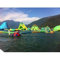 Quality Durable 0.9mm PVC Tarpaulin Giant Inflatable Water Park With Tower And Slide wholesale