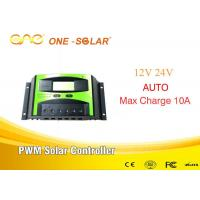 Quality PWM Solar Controller 10A 12v/24v Solar Charger Controller auto smart control inverter wholesale