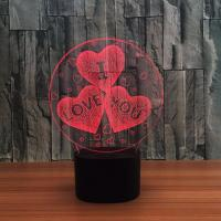 Quality Indoor Acrylic 3D LED Night  Light for Valentines day  Gift ,Decoration LED Light wholesale