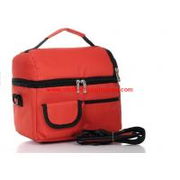 Quality Durable polyester fiber travel cooler bag , red lunch bag 4200ML wholesale