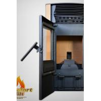 Quality Beautiful Safety Indoor Pellet Stove Cast Iron With Self Cleaning System wholesale