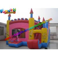 China Trink Bell Vinyl Inflatable Bouncy Slide , Inflatable Combo Jumping Castle on sale