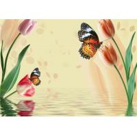 Quality Simple Butterfly Flowers Bamboo Fiber Products Insulation and Energy Saving wholesale