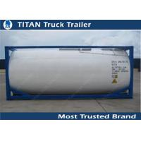 Quality Carbon Steel 40ft Water Tanker Container Liquid Tank Trailers wholesale
