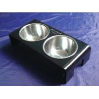 Quality Rectangle 8mm Ruby Acrylic Pet Bowl Food Feeder For Dog , Cat OEM wholesale