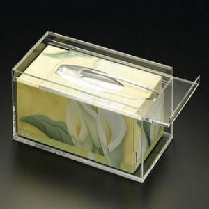 Quality 25cm * 15cm * 9cm Acrylic Tissue Box Holder With Customize Logo wholesale