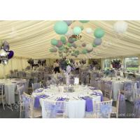 Quality Colorful Ball Decoration Luxury Wedding Tents , Huge Canopy Tent Anodized Aluminum Frame wholesale