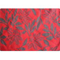 Quality Lightweight Red Jacquard Dress Fabric Apparel Fabric By The Yard wholesale