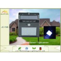 Quality High Powered 200LM SMD 2835 1W Solar LED Wall Light With Monocrystalline Silicon Panel wholesale