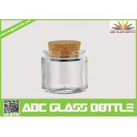 Quality High quality small clear glass jar cork wholesale
