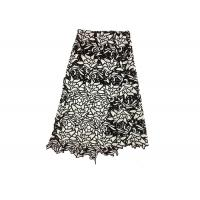 China Two Tone Floral water soluble Guipure Chemical Lace Fabric Trimmings Machine Made on sale