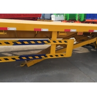 Quality 28T Flatbed Full Trailer ABS With Front HOWO Cargo Hook wholesale
