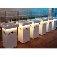 Quality Elegant Wooden Glass Display Cabinets Pre - Assembled Structure With LED Lighting wholesale