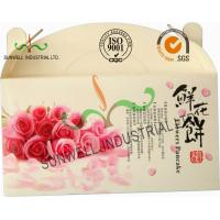 Quality Flower Cookies Cardboard Food Packaging Boxes , Disposable Cardboard Food Containers wholesale