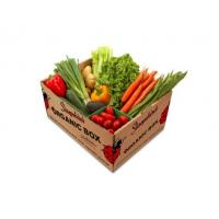 China Moistureproof Corrugated Vegetable Boxes , Fruit Packaging Boxes AB Flute on sale